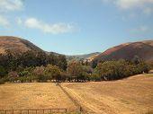 stock photo of amtrak  - california coastal hills from amtrak coast starlight - JPG