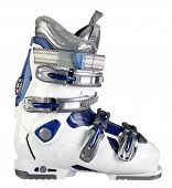 foto of ski boots  - Ski boot workwear isolated on white background - JPG