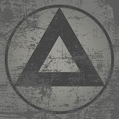 Grunge Triangles With High Detailed Distress Texture. Grunge Background.  Retro Background. Vintage  poster