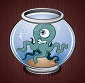 picture of kraken  - A weird squid trapped in a fish bowl - JPG