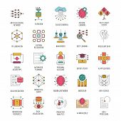 Neural Network Icon Set. Cartoon Neural Network Set Vector For Web Design Isolated On White Backgrou poster