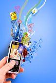 Постер, плакат: креативный дизайн мобильный телефон