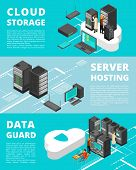 Business Data Protection. Network Equipment And Telecommunications. Server Database Storage, Data Ce poster