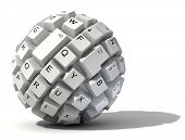 stock photo of lap  - abstract keyboard ball - JPG