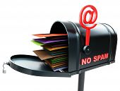 stock photo of no spamming  - mailbox no spam - JPG