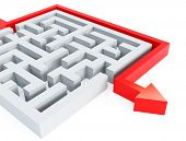 stock photo of maze  - maze - JPG