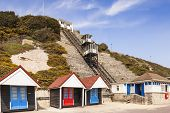 The West Cliff Lift Is A Funicular Railway, Built In 1908, And Links Bournemouth West Beach With The poster