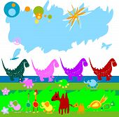 Dinosaurs And Other Little Animals poster