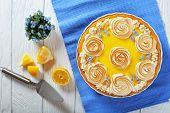 Постер, плакат: Classic Lemon Tart On A Table