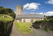 pic of dartmouth  - the chapel st petrox church at dartmouth castle on the estuary of the river dart devon - JPG