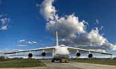 A Large Cargo Plane On The Ground