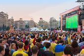 Ukrainian, Swedish And English Fans In The Fanzone Before Match Euro 2012