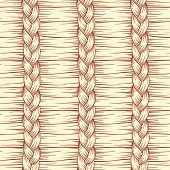 Hand Drawn Abstract Hair Braid Vector Seamless Pattern poster