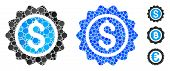 Banking Stamp Mosaic Of Round Dots In Different Sizes And Color Hues, Based On Banking Stamp Icon. V poster
