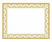 Golden Ornament Pattern Frame, Border Ornament Pattern Frame, Engraving Ornament Pattern Frame, Orna poster
