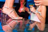 stock photo of bachelor party  - People having a party in club or bar - JPG