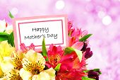 stock photo of day-lilies  - Happy Mother - JPG