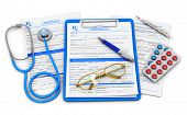 foto of ballpoint  - Medical doctor insurance and healthcare concept - JPG