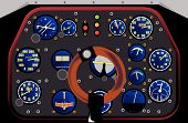 stock photo of spitfire  - Control Panel of a WWII fighter plane in action - JPG