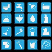 stock photo of pooping  - This is Toilet Icon Set Basic Style - JPG