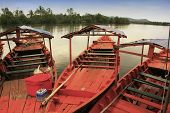 pic of southeast  - Colorful boat at Ream National Park Cambodia Southeast Asia - JPG