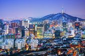 image of korean  - Downtown cityscape of Seoul - JPG