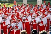 Nebraska Marching Band no Gator Bowl Parade