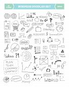 stock photo of draft  - Hand drawn vector illustration of business doodles elements - JPG