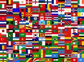 stock photo of flags world  - flag background world country abstract politics illustration - JPG