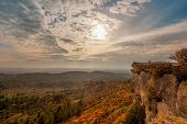 Beautiful landscape view at  Les Baux-de-Provence, France