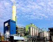 stock photo of sewage  - Modern waste and industrial waste incineration plant - JPG