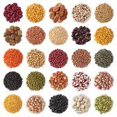 picture of legume  - Legume collection isolated on white background - JPG