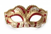 stock photo of masquerade  - Carnival mask isolated on white background - JPG