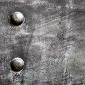stock photo of stelles  - Black grunge metal plate or armour texture with rivets as background - JPG