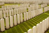 stock photo of tyne  - Tyne Cot Cemetery in Ypres world war belgium flanders - JPG
