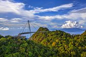 stock photo of langkawi  - The landscape of Langkawi seen from Cable Car viewpoint - JPG