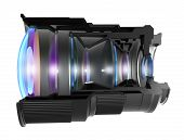 picture of diffraction  - Sectional camera lens - JPG