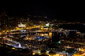 picture of hercules  - View of Port Hercule and the city at night - JPG