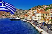 foto of greek-island  - colorful Greece series  - JPG