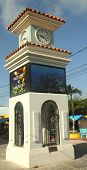 Clock Tower in San Pedro, Belize