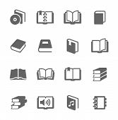 stock photo of office romance  - Simple set of books related vector icons for your design - JPG