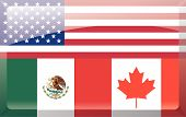 picture of free-trade  - Flag of the North American Free Trade Agreement - JPG