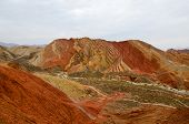 picture of landforms  - Zhangye Danxia landform located in Linze County - JPG