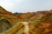 foto of landforms  - Zhangye Danxia landform located in Linze County - JPG