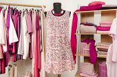 pic of mannequin  - Wardrobe full of all shades of pink clothes and accessories - JPG
