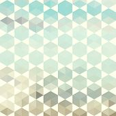 stock photo of hexagon pattern  - Retro pattern of geometric shapes - JPG