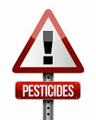 stock photo of pesticide  - pesticides warning sign illustration design over a white background - JPG