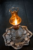 Flame Of An Ancient Oil Lamp poster