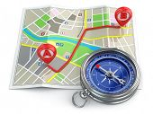 foto of cartographer  - Navigation and gps concept - JPG