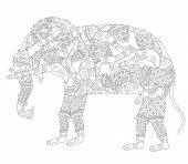 picture of hanuman  - Vector Illustration Hanuman monkey transformed himself to elephant drawing - JPG
